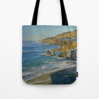 big sur Tote Bags featuring Big Sur by Michael Creese
