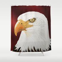 eagle Shower Curtains featuring eagle by Turul