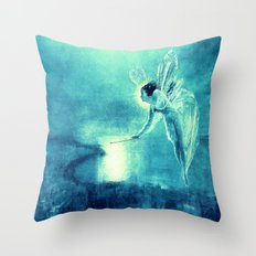 Turquoise Blue Fairy Throw Pillow