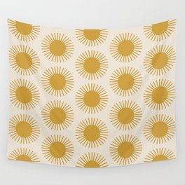 Golden Sun Pattern Wall Tapestry