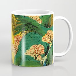 Cherry Blossom Trees on Japan Cliff Coffee Mug