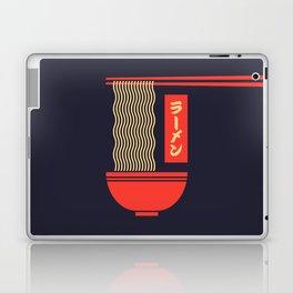 Ramen Japanese Food Noodle Bowl Chopsticks - Black Laptop & iPad Skin