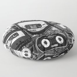 Something Nostalgic - black and white #decor #society6 #buyart Floor Pillow