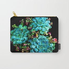 Beautiful Autumn plant green, blue Carry-All Pouch
