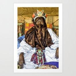 Tuareg elder, Timbuktu, Mali Art Print