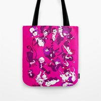 dangan ronpa Tote Bags featuring Hope's Peak Academy by blue