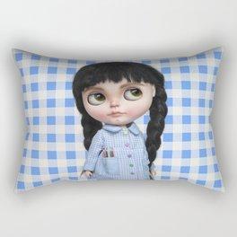 Baby Blue Vichy by Erregiro Rectangular Pillow