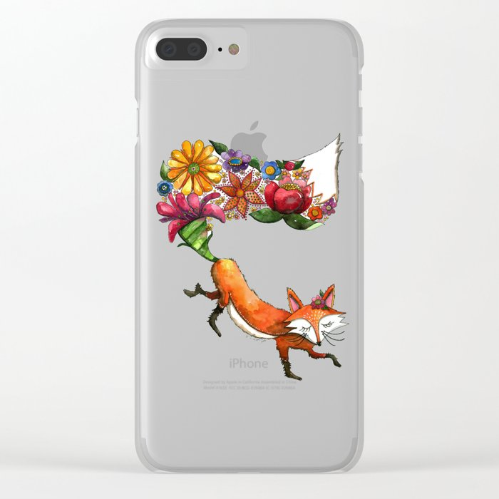 Hunt Flowers Not Foxes One Clear iPhone Case