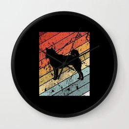 Retro Shiba Inu Dog Animal Gift Wall Clock