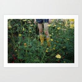 Green farmer Art Print