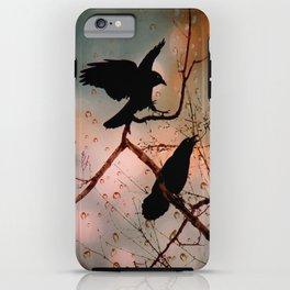 Rainy Day Crows iPhone Case