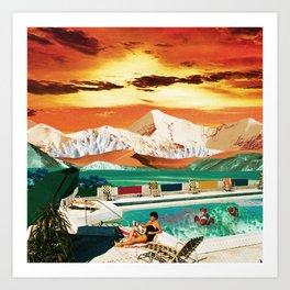 Sunset breeze Art Print