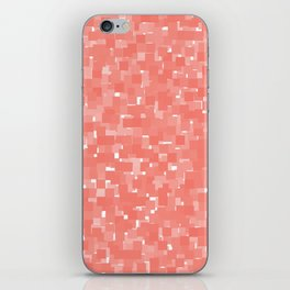 Peach Echo Pixels iPhone Skin