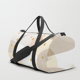 Conglomeration in Cream Duffle Bag
