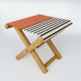 Sunrise / Sunset - Orange & Black Folding Stool