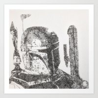 boba fett Art Prints featuring Boba Fett by urbanexpressionist