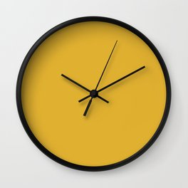 Yellow Mustard Gold Wall Clock