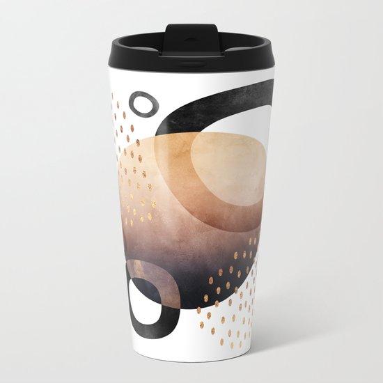 Graphic Abstract 1 Metal Travel Mug