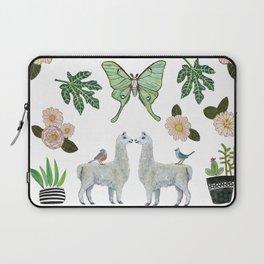 Llama and Luna Moth Laptop Sleeve