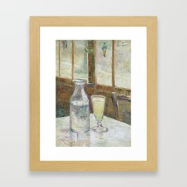 Café table with absinth Framed Art Print