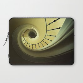 Spiral staircase in green and yellow Laptop Sleeve