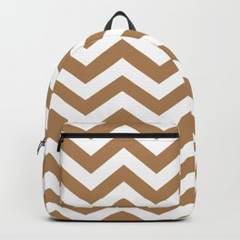 Chevron Zig Zag Pattern: Ginger Backpack