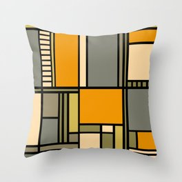 Frank Lloyd Wright Inspired Art Throw Pillow