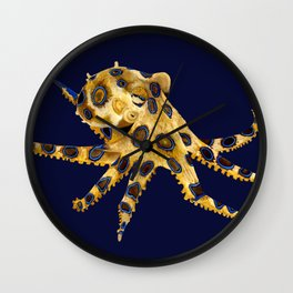 BLUE RINGED OCTOPUS Wall Clock