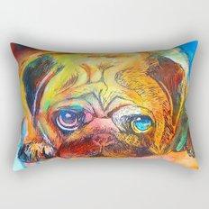 Pop Art Pug Rectangular Pillow