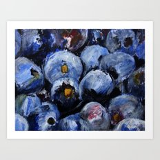 Blueberries - Still Life In Acrylics Original Fine Art Art Print