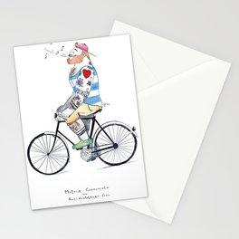 """""""Ginger Biker"""" Stationery Cards"""