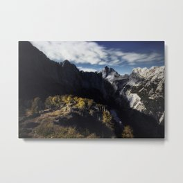 In awe of the mountains Metal Print