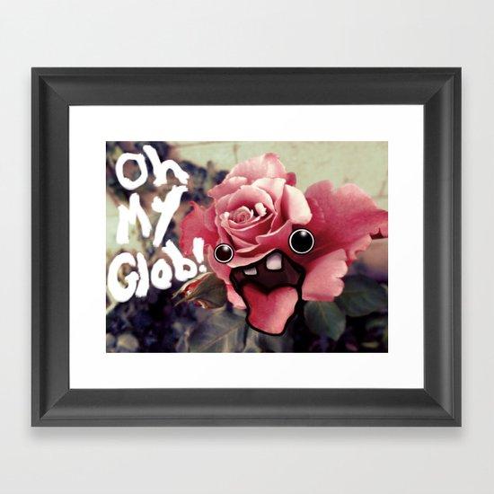 OH MY GLOB! Framed Art Print