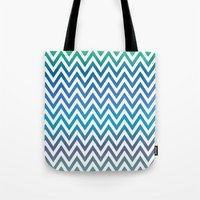 chevron Tote Bags featuring Chevron by David Zydd