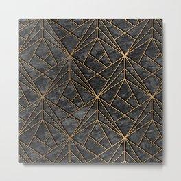 Elegant geometric modern rock Metal Print