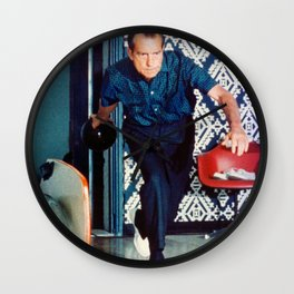 Richard Nixon Bowling Wall Clock