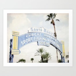 Santa Monica Sign Art Print
