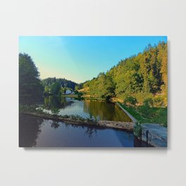 A summer evening along the river | waterscape photography Metal Print
