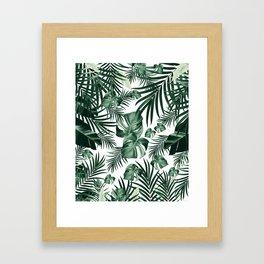 Tropical Jungle Leaves Pattern #4 (2020 Edition) #tropical #decor #art #society6 Framed Art Print