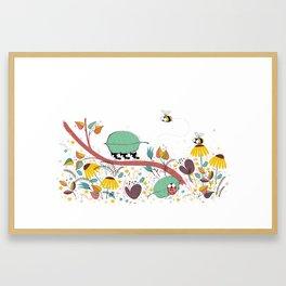 Three Ants in a Row Framed Art Print