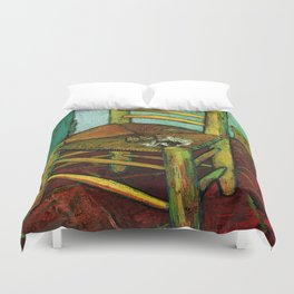 Van Gogh, Van Gogh's Chair – Van Gogh,Vincent Van Gogh,impressionist,post-impressionism,brushwork,pa Duvet Cover