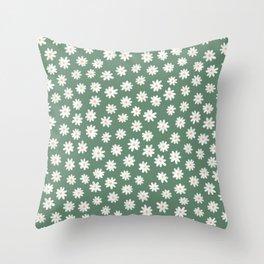 Daisy fields Throw Pillow