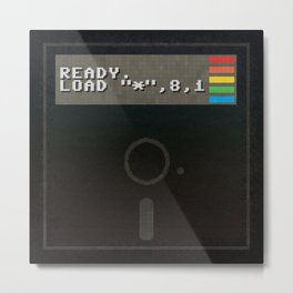 Ready to get Loaded (disc) Metal Print