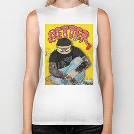 Getter burger head Biker Tank
