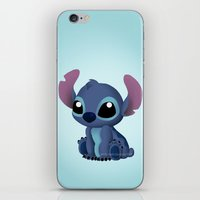 chibi iPhone & iPod Skins featuring Chibi Stitch by Katie Simpson a.k.a. Redhead-K
