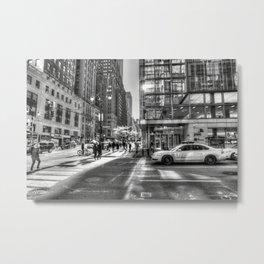 Street Scene New York City Metal Print