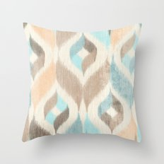Soothing Waves Ikat Throw Pillow
