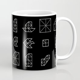 Origami Fish - Step by Step (White) Coffee Mug
