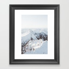 Snowy Mountains in Washington | Pt. 2 Framed Art Print
