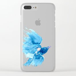 Raven Rider Clear iPhone Case